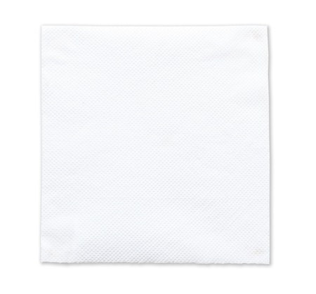 White tissue paper on white background photo