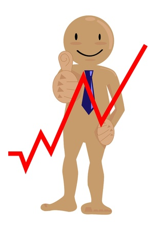 business man happy graph up  Stock Photo - 18466553