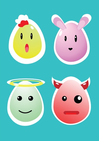 Easter egg icons. Vector illustration for your happy funny holiday design Vector