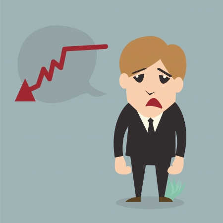 exchange rate: Businessman fail Cartoon character Illustration