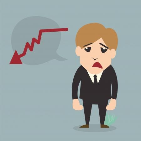 Businessman fail Cartoon character Illustration