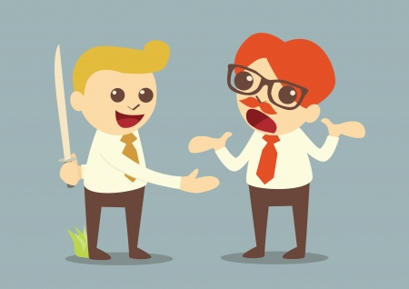 betray: betrayal in business, vector Illustration