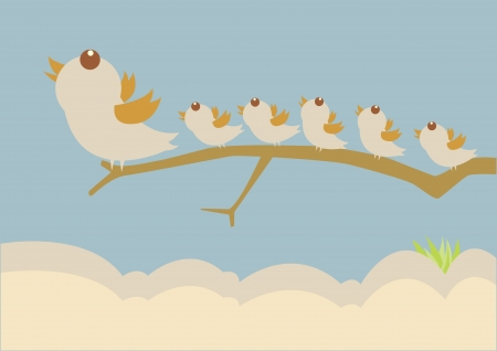 bird leadership concept Vector