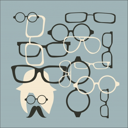 Chapéu, óculos de sol e bigode