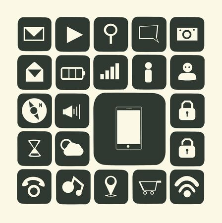 Application icons for smartphone and web Stock Vector - 19121111