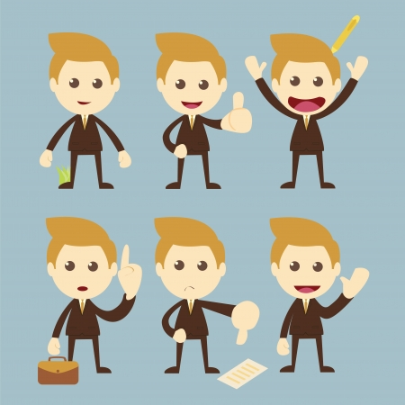 Businessman set cartoon Stock Vector - 19121070