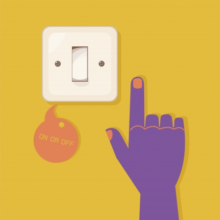 light switch: hand pressing electronic  switch