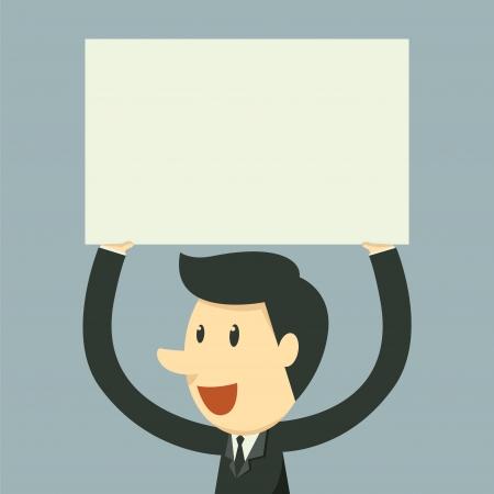 man presenting: holding paper