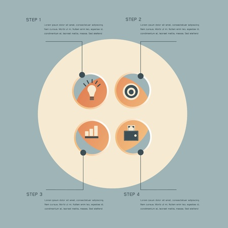 Infographic steps design template Vector