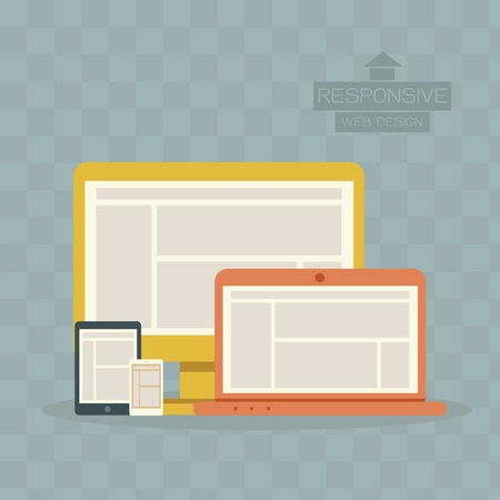 Responsive Web Design Stock Vector - 19577152