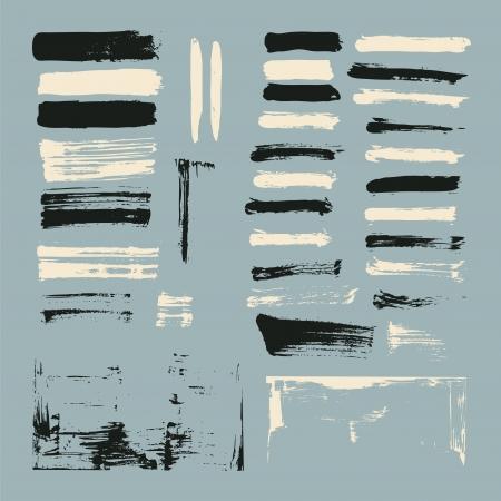 conjunto de pinceladas de tinta Ilustração