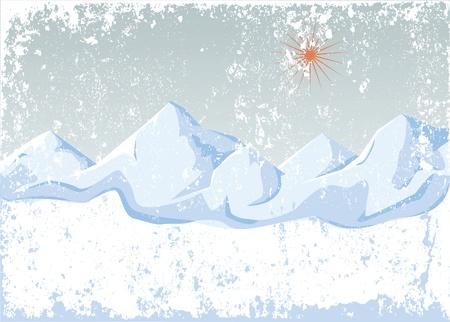 Winter bergen Vector Illustratie
