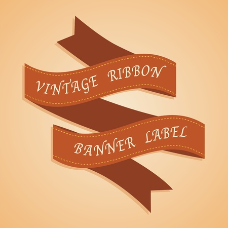 Vintage Styled Ribbons Vector