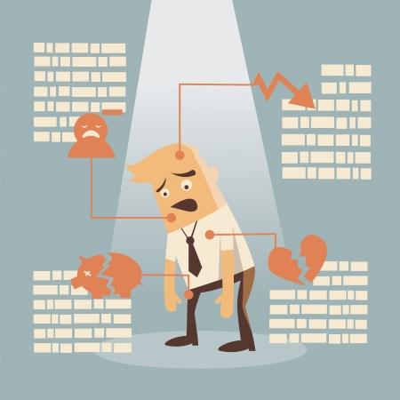 businessman failure concept Illustration