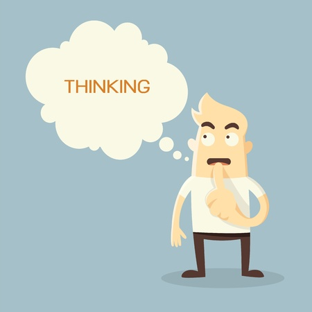 Thinking man Stock Vector - 21019168