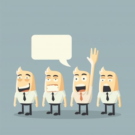 chosen one: Volunteer concept Illustration