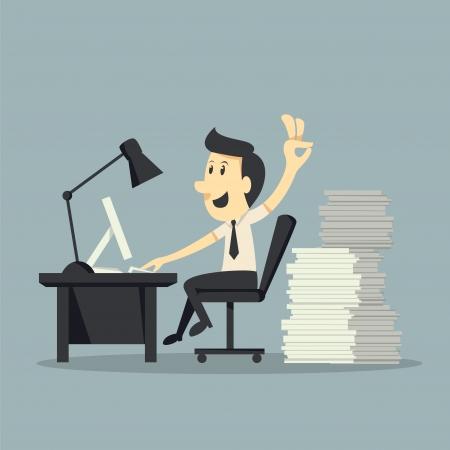 hard: Hard werken Stock Illustratie