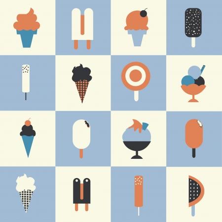 chock: Ice cream set  Illustration