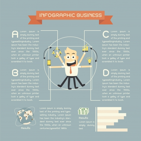 infographics business cartoon Vector