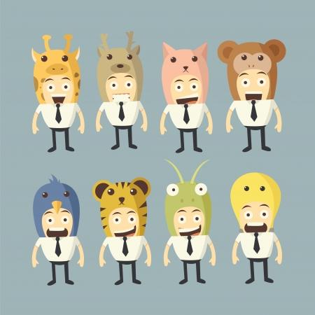 money cat: Conjunto de la historieta de negocios