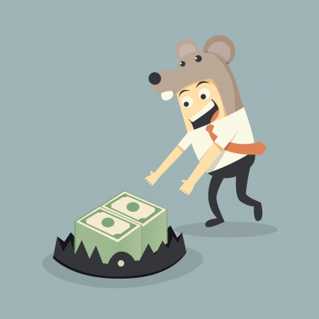 money trap and businessman Vector