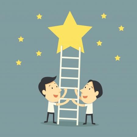 Teamwork für das Ziel