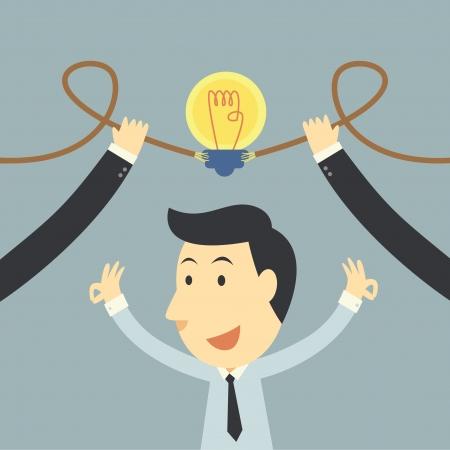 medium group of people: Businessman spark idea up