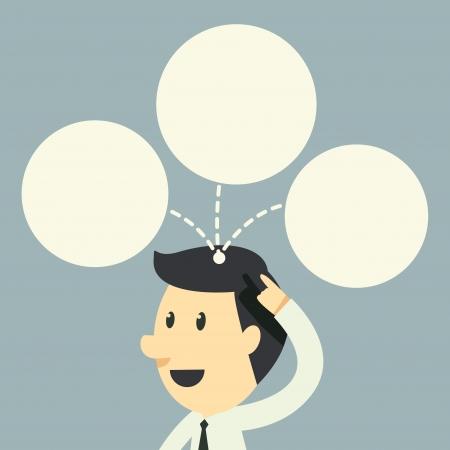 inteligencia emocional: empresario tiene idea en la cabeza Vectores