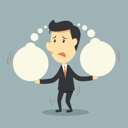 great idea: businessman and think bubble  Illustration