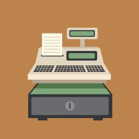 Caixa registradora Ilustração