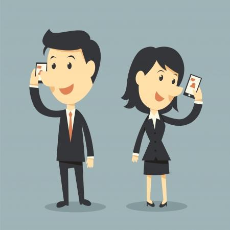 office women: smart phones