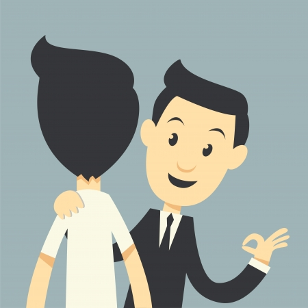 help each other: businessman help each other Illustration