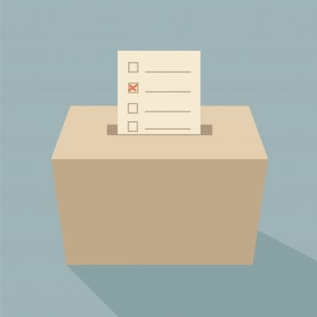 voting ballot: ballot box vote,vector
