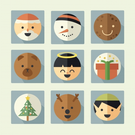 Christmas icon set Stock Vector - 23237624