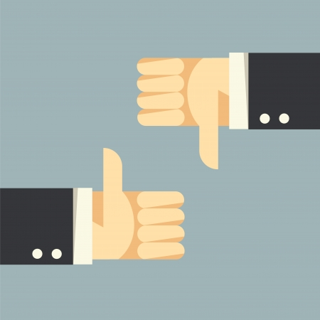 thumbs down: Thumbs Up and Thumbs Down  Illustration