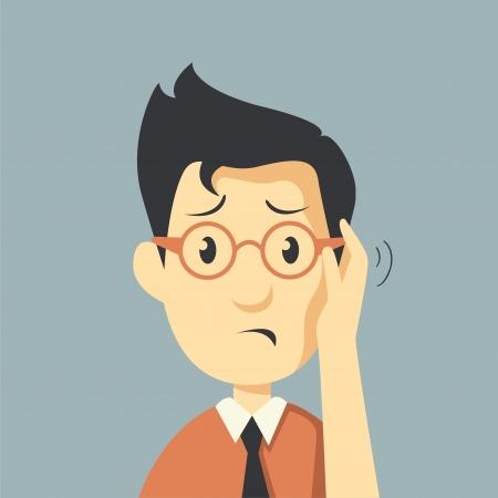 Geschäftsmann gestresst sind, ernster Mann Standard-Bild - 25315883