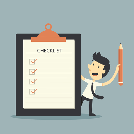 achievement clip art: Businessman Checklist
