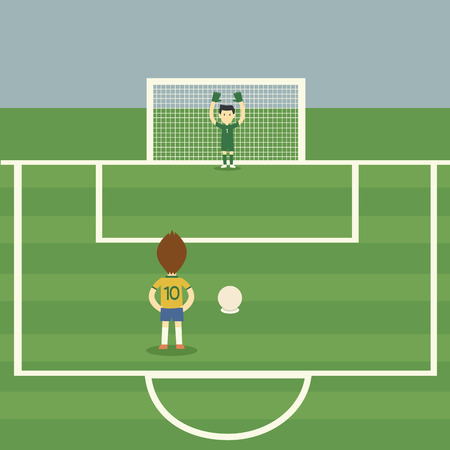 goal kick: Brazil football player Penalty Kick