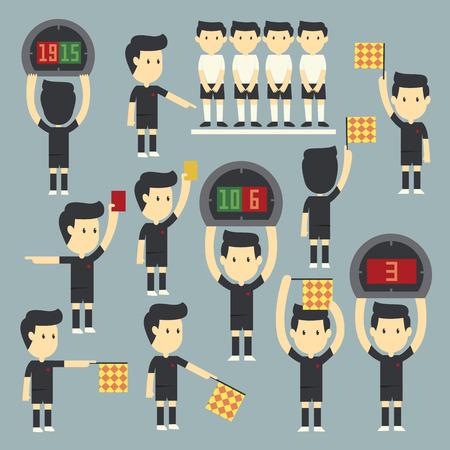 substitution: Football referee set Illustration