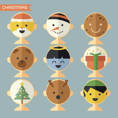 Christmas mask, avatar Vector