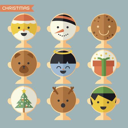 stoking: Christmas mask, avatar Illustration