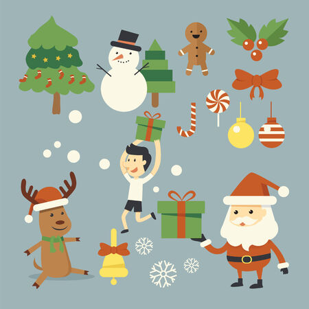 Christmas character set Vector
