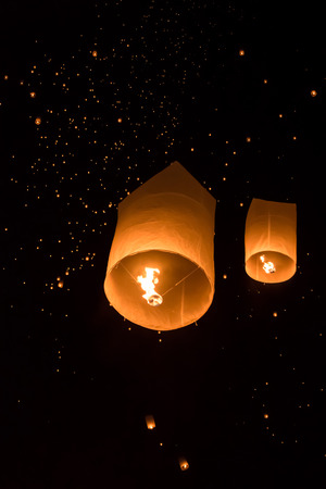 yeepeng: yeepeng Firework Festival in Chiangmai, Thailand