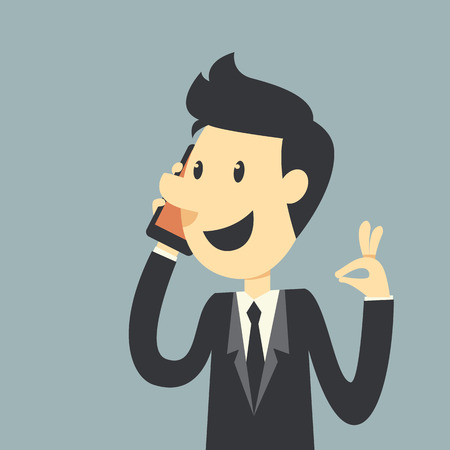 Businessman say Hello Illustration