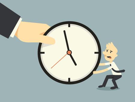 la lucha contra el paso del tiempo Vectores