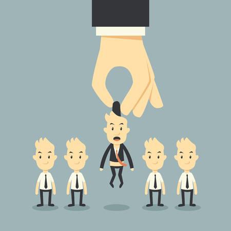 businessman hand choosing