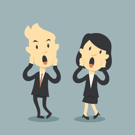 awkward: la gente de negocios de miedo