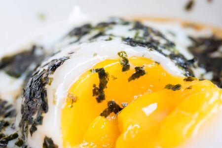 eggs: Japanese onsen soft boiled egg Stock Photo