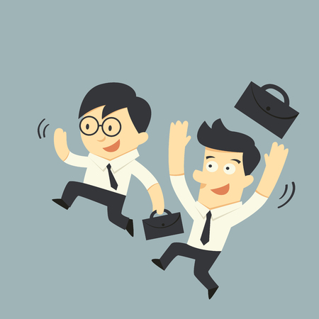 exalted: Happy businessman