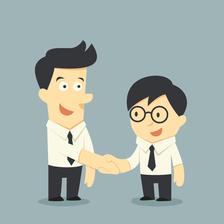 black handshake: Business handshake Illustration